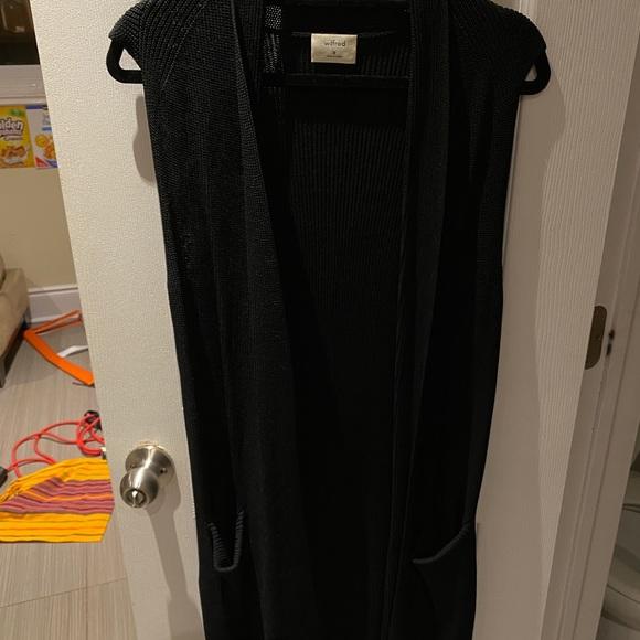 Aritzia Wilfred Black Wool Cardigan
